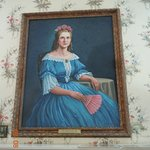 Portrait of Mary found in upstairs bedroom where they stayed
