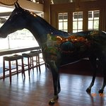 Another view of the Kentucky tourism horse inside the Visitor's Center