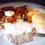 Country Fried Chicken and Eggs