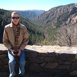 My husband at another scenic overlook