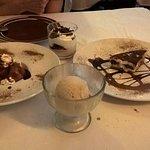 Degustación d epostres (helado de canela, tiramisu, etc...)