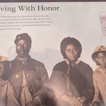 Former slaves served with honor on the Union side. About 7,000 are buried here