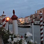 View from the dining deck over the Grand Canal