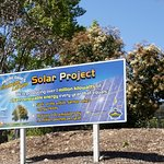 Half the power needed is produced by solar panels