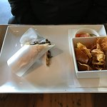 hubby's lunch - food wrapped in RICE paper - odd - he wasn't fond of this this lunch