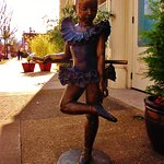dancer statue by the door