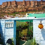 View of the fort from the rooftop cafe