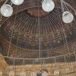 The high dome & lamps of the mosque