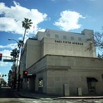 Luxury shopping on Rodeo Drive in Beverly Hills continues on Wilshire Blvd. with Saks Fifth Aven