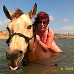 Me on my swimming horse!