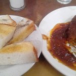 Bread Toast and Mutton Afgani