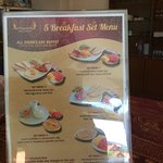 5 breakfast set menu