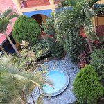 from the upper levels to the courtyard view