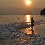 Sunset at Barefoot resort beach.