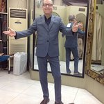 my new blue suit ... perfect