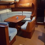 Salon in the accommodation vessel.