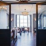Original Georgian features in the restaurant