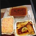 PRAWN,pilau rice & prawn puree