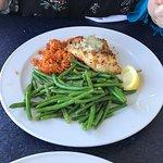 Shrimp po' boy and encrusted cod.
