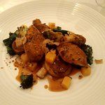 Quail and potato fondant main course