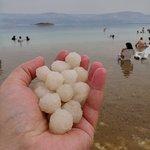 Salt balls from the Dead Sea