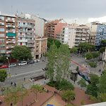 Rooftop view looking over Les Corts Metro