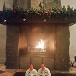 The beautiful roaring fire and decorations (stayed in between Christmas and New Year)