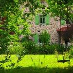 Jardin avec balançoire