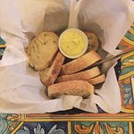 A garlic moose butter and fresh bread was so tasty