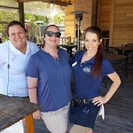 This was the friendly  staff that waited  on us at Mar Vista it's one of our favorite  places an