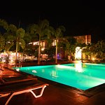 Pool Side at Night