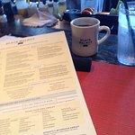Menu & coffee - then breekie