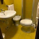 Spacious bathroom. Nice tiles too!