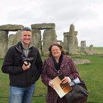 Jill and my partner at Stonehenge.
