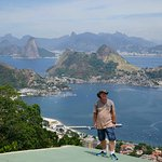 Luis took us to the hang gliding take off point in Niteroi