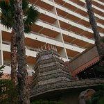 balcones de las habitaciones, decoración de la discoteca por fuera