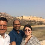 Mahaveer our driver in Amber Fort jaipur