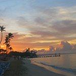 plage de bon matin