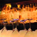 Martini glasses on ice