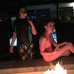 Roasting Marshmallows by the Pool !