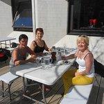 déjeuné sur terrasse avec un temps magnifique!
