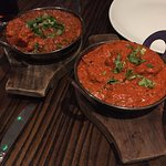 Galric chicken on the left, lamb tikka masala on the right AMAZING