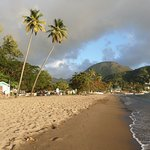 Neighborhood beach on Soufriere Bay