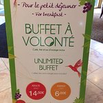 Pancarte buffet