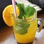 Paleo omelette, chai tea, orange lemonade!