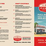 """PizzaCo serves craft cocktails at our """"Lubrication Center"""" inside our garage!"""