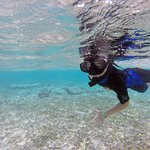 Snorkeling right off the beach