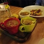A trio of Irish Stews served at Boxty in Temple Bar. Murphy's is the beer served here!