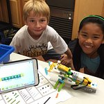 We offer after school classes, including LEGOs and Robotics