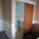 Small but clean ensuite shower room